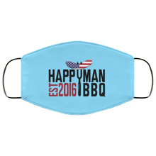 Load image into Gallery viewer, Patriotic HappyMan BBQ Face Mask in Columbia Blue