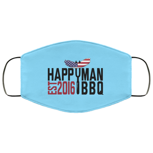 Patriotic HappyMan BBQ Face Mask in Columbia Blue