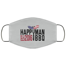 Load image into Gallery viewer, Patriotic HappyMan BBQ Face Mask in Silver