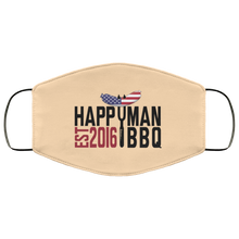 Load image into Gallery viewer, Patriotic HappyMan BBQ Face Mask in Vegas Gold