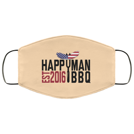 Patriotic HappyMan BBQ Face Mask in Vegas Gold