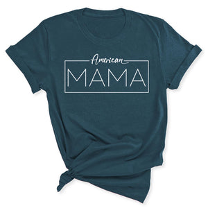 American Mama Women's T-Shirt in Deep Teal