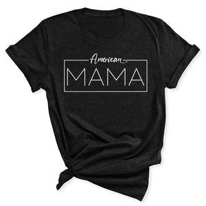 American Mama Women's T-Shirt in Black Heather