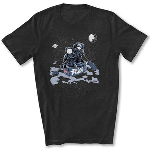 Space Force Astronaut T-Shirt in Black Heather