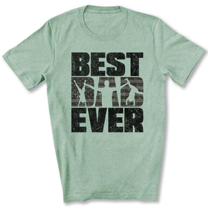 Best Dad Ever T-Shirt in Heather Prism Mint