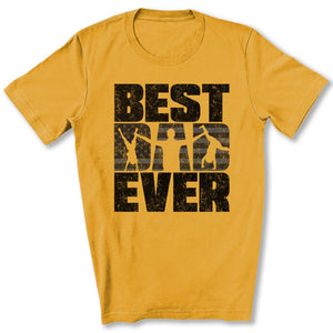 Best Dad Ever T-Shirt in Heather Mustard