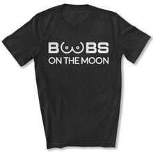 Load image into Gallery viewer, Boobs on the Moon 2024 T-Shirt in Black Heather