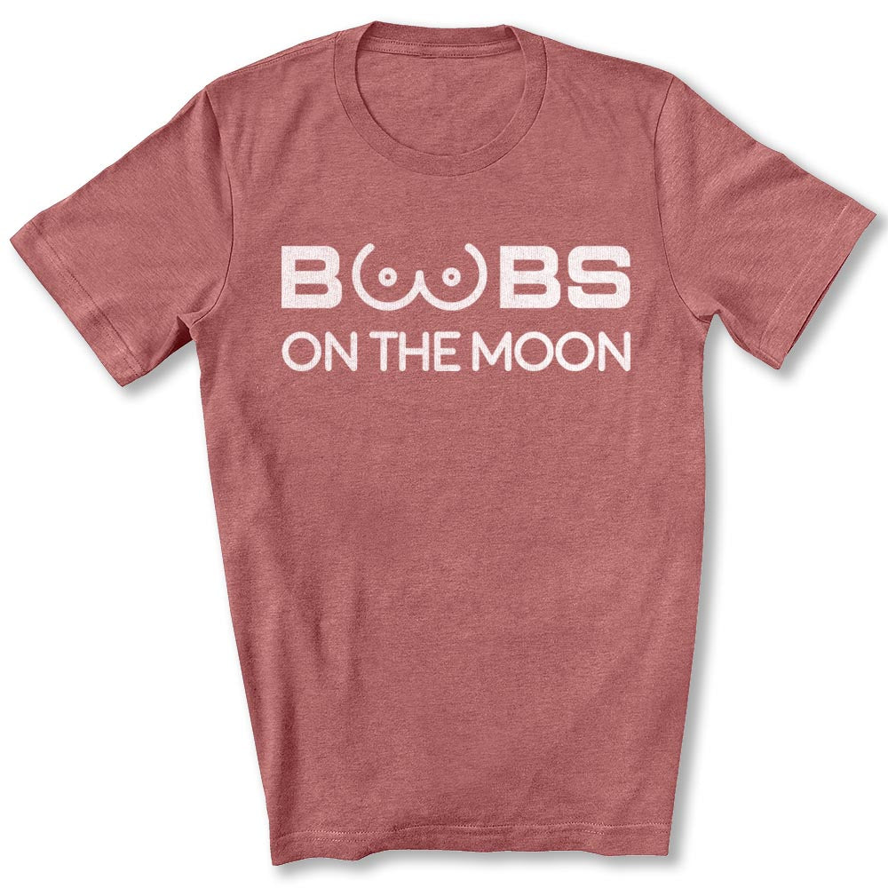 Boobs on the Moon 2024 T-Shirt in Heather Mauve