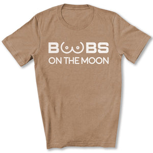 Boobs on the Moon 2024 T-Shirt in Heather Tan