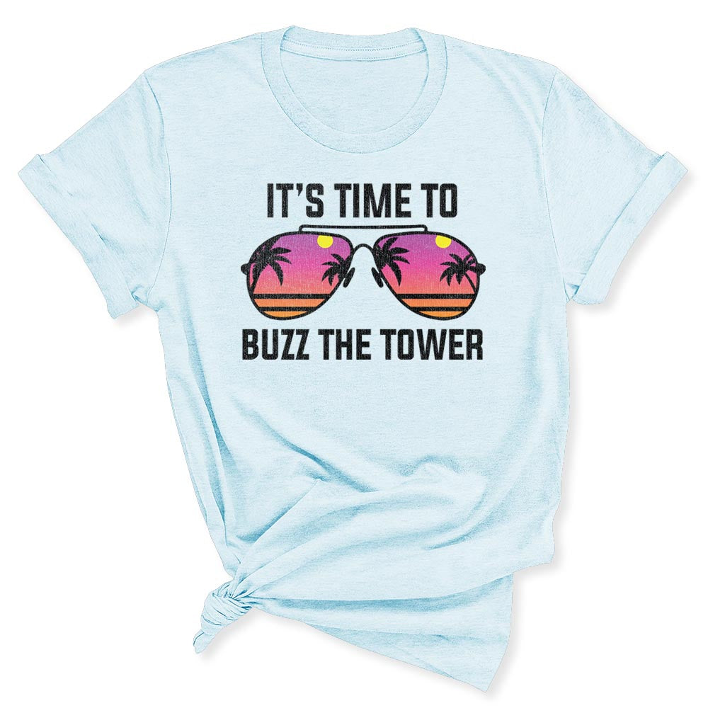 Buzz the Tower Women's T-Shirt in Heather Blue