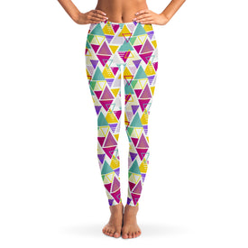 90's Retro Oldschool v2 Women's Leggings Front Model