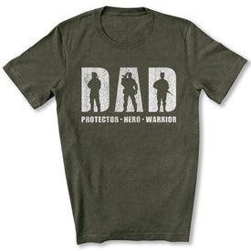 Hero Protector Warrior T-Shirt in Heather Military Green