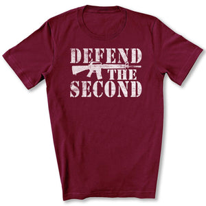 Defend the Second T-Shirt in Maroon