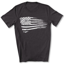 Load image into Gallery viewer, Distressed US Flag T-Shirt in Dark Gray