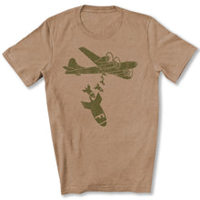 Load image into Gallery viewer, Dropping F Bombs T-Shirt in Heather Tan