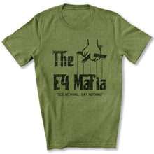 Load image into Gallery viewer, E-4 Mafia T-Shirt in Heather Green