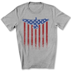 Star Spangled Eagle Flag T-Shirt in Athletic Heather