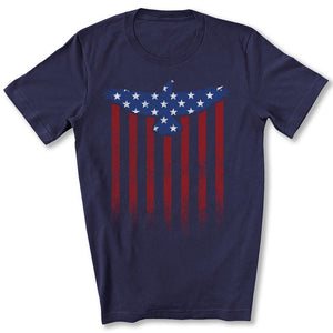Star Spangled Eagle Flag T-Shirt in Navy