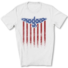 Star Spangled Eagle Flag T-Shirt in White