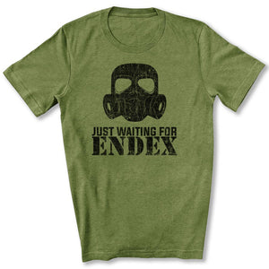 Just Waiting For ENDEX T-Shirt in Heather Green
