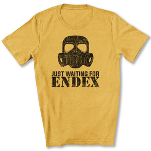 Just Waiting For ENDEX T-Shirt in Heather Mustard