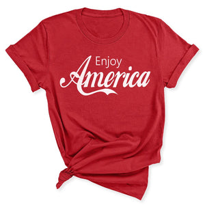 Enjoy America Women's T-Shirt in Canvas Red