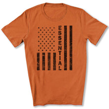 Load image into Gallery viewer, Essential Employee Flag T-Shirt in Burnt Orange