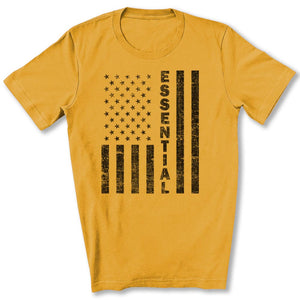 Essential Employee Flag T-Shirt in Gold
