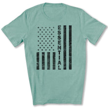 Load image into Gallery viewer, Essential Employee Flag T-Shirt in Heather Prism Dusty Blue