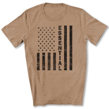 Load image into Gallery viewer, Essential Employee Flag T-Shirt in Heather Tan