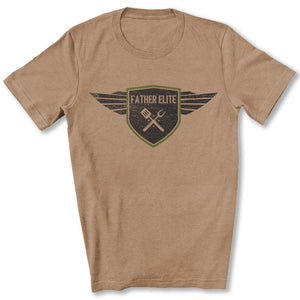 Father Elite T-Shirt in Heather Tan