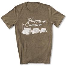 Load image into Gallery viewer, Happy Camper T-Shirt in Heather Olive