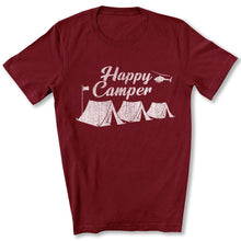 Load image into Gallery viewer, Happy Camper T-Shirt in Maroon