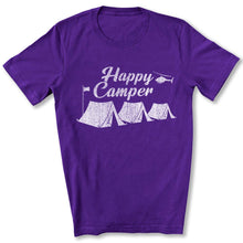 Load image into Gallery viewer, Happy Camper T-Shirt in Team Purple