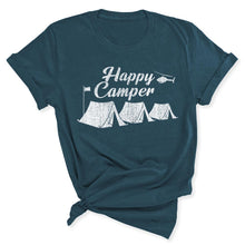 Load image into Gallery viewer, Happy Camper Women's T-Shirt in Deep Teal