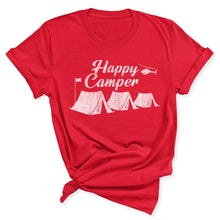 Load image into Gallery viewer, Happy Camper Women's T-Shirt in Red