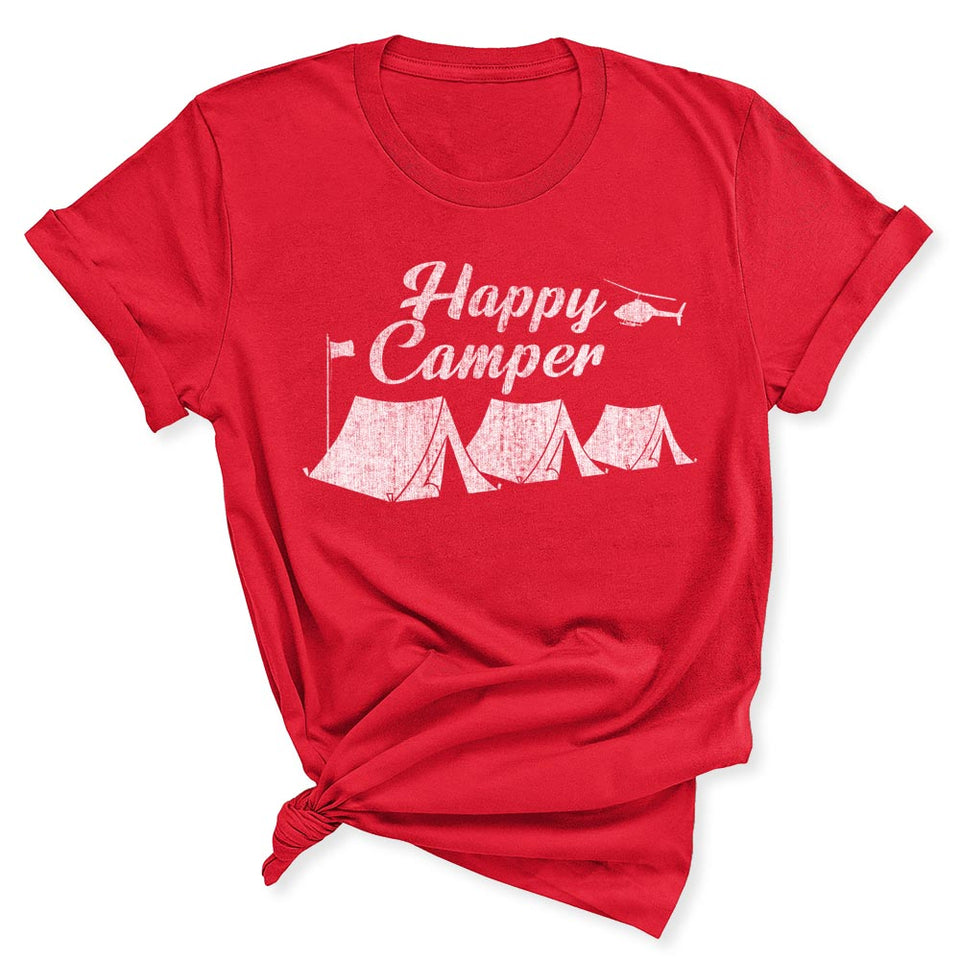 Happy Camper Women's T-Shirt in Red