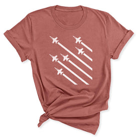 Jets in Formation Women's T-Shirt in Mauve