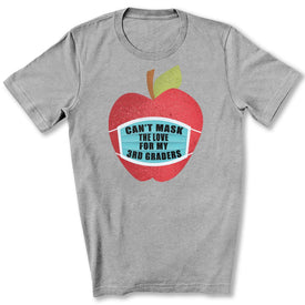 Can't Mask The Love - 3rd Graders T-Shirt in Athletic Heather