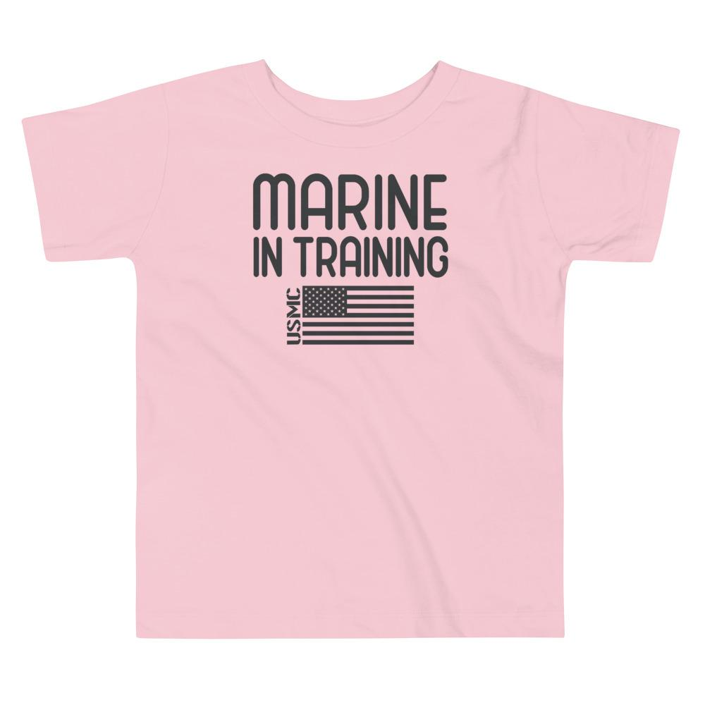 Marine in Training Toddler T-Shirt in Pink