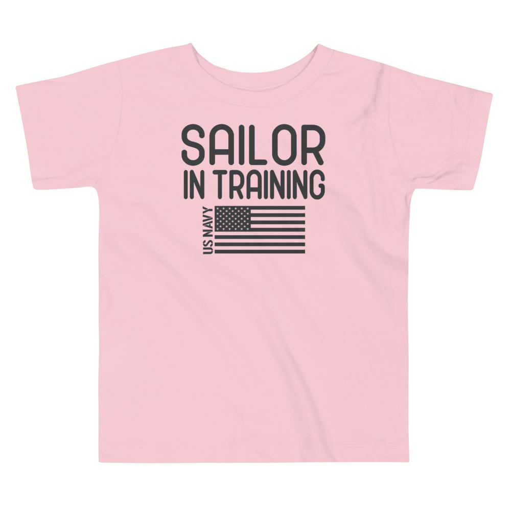 Sailor in Training Toddler T-Shirt in Pink
