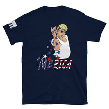 Load image into Gallery viewer, August 2020 - Trump Salt Bae T-Shirt in Navy