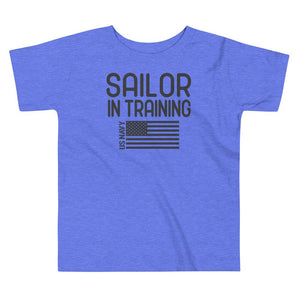 Sailor in Training Toddler T-Shirt in Heather Columbia Blue