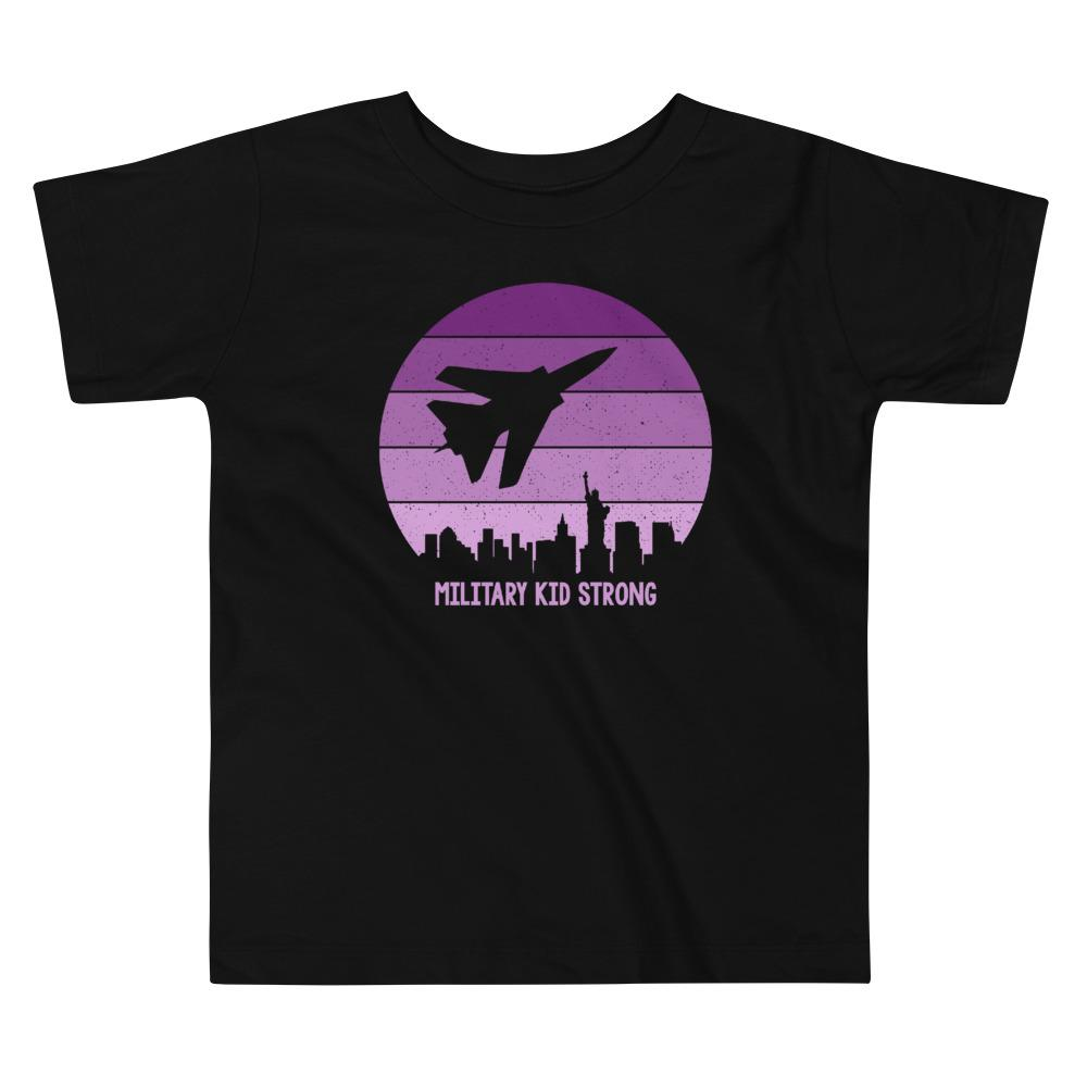 Purple Up Sunrise Toddler T-Shirt in Black