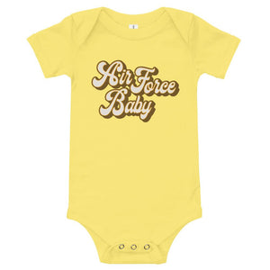 Retro Air Force Baby Onesie in Yellow