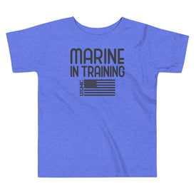 Marine in Training Toddler T-Shirt in Heather Columbia Blue