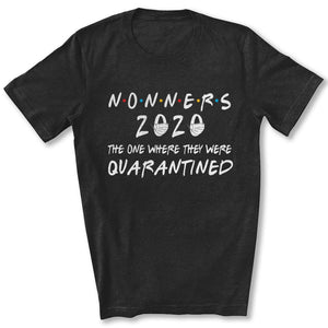 Quarantined Nonners T-Shirt in Black Heather