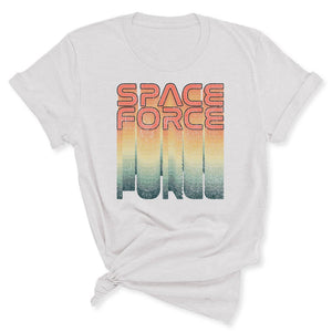 Rainbow Space Force Women's T-Shirt in Ash