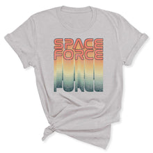 Load image into Gallery viewer, Rainbow Space Force Women's T-Shirt in Silver