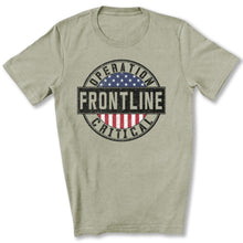 Load image into Gallery viewer, Operation Critical Frontline T-Shirt in Heather Stone